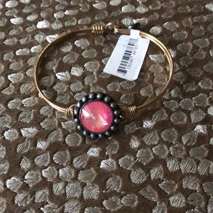 Pink Gem Gold wire Braclet NWT Luca & Danni